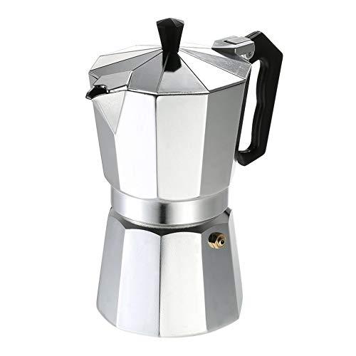 #N/V Cafetera de aluminio de 3 tazas, 6 tazas, 9 tazas, 12 tazas, cafetera espresso, percolador, estufa eléctrica