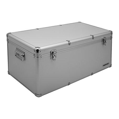 Aluminium-Rahmenkoffer Transport-Box, Koffer in Silber mit 82 Liter Volumen