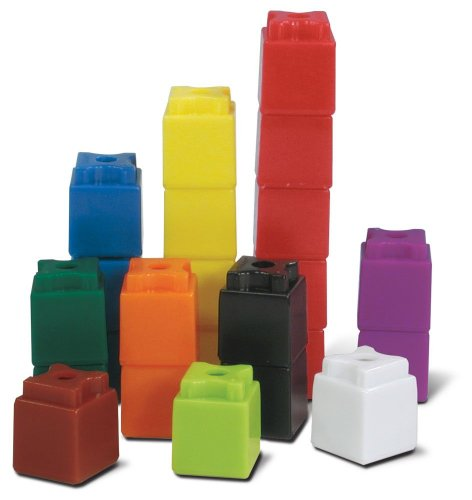 hand2mind Interlocking UniLink Cubes, Plastic Cubes for Early Math, Connecting Cubes for Kids Learning, Math Manipulatives, Counting Cubes for Kids Math, Preschool Classroom Supplies (Set of 1000)