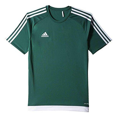 adidas Estro 15 JSY - Camiseta para hombre, color verde opalo/blanco, talla L