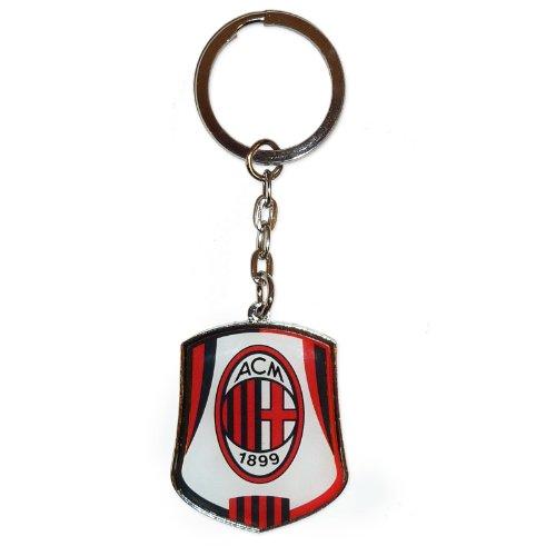 A.C. Milan Crest Llavero con Escudo del AC Milan  Multicolor  Unisex  10cm x 3.5cm (Including Ring)
