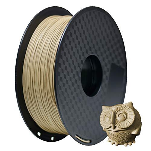 GEEETECH Filament PLA 1.75mm Imprimante 3D Filament PLA pour Imprimante 3D, 1kg Spool, Bois