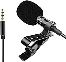 SBA999 3.5mm | Omni Directional | Noise Cancelling| Mini Metal Clip | Collar Mic| Youtube/Lectures, News, Voice - Video Recording Interview, Studio, Bloggers, Speech, Smartphone's Laptops