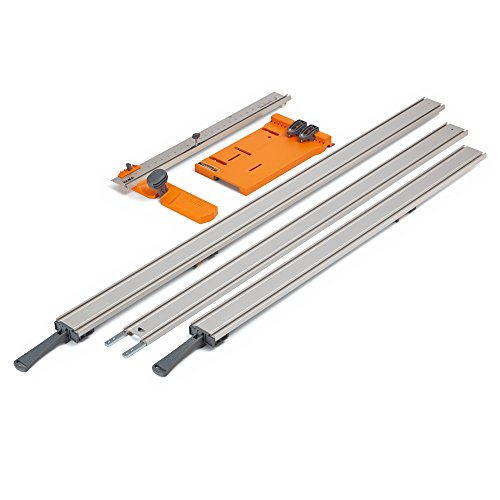 """WTX 5 Pc Straight Edge Saw Guide Set, Includes 50"""" & 36"""" Clamp Edges, 50"""" Extension, Saw Plate, Rip Handle"""