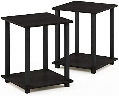 Best Furinno Simplistic End Table, Espresso/Black