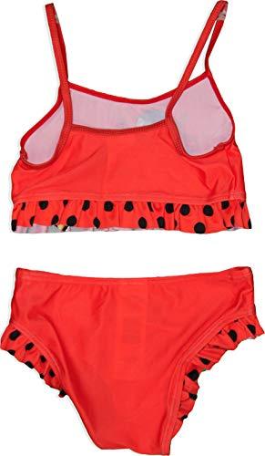 Miraculous Ladybug Girls 2 Peices Swimwear (7-8 Years) Red