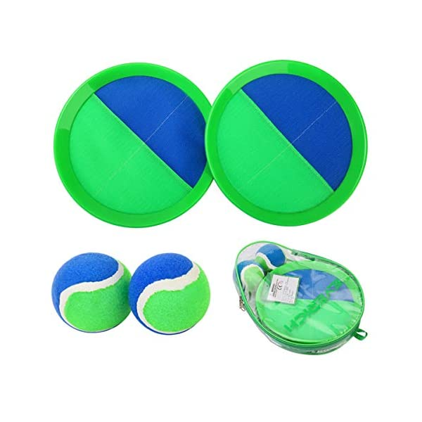 EVERICH TOY Paddle Toss and Catch Ball Set-Upgraded Version 8 Inch Paddle Catch Games...