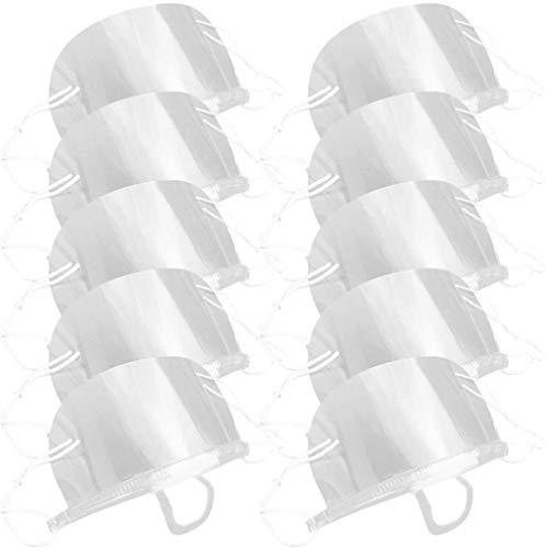 10 Stück Mundschutz Zeichen Transparente Praktische Gesichtsschutz Zahn Mund Mund Spucke Schutz für Hotel Restaurant Küche Koch Zahnarzt