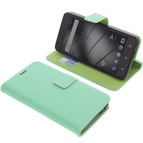 foto-kontor Tasche für Gigaset GS270 / GS270 Plus Book Style hellgrün Schutz Hülle Buch