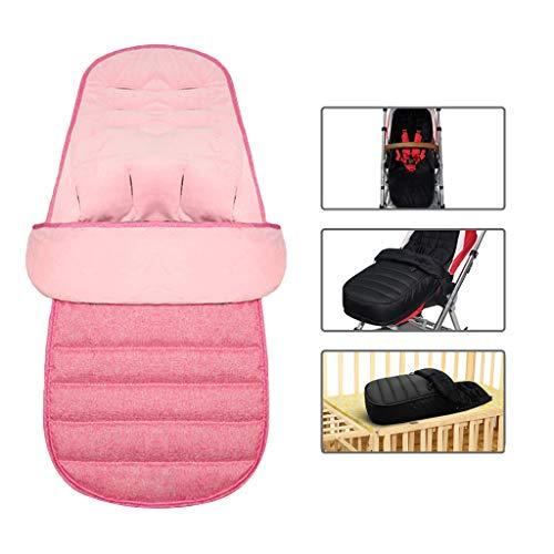 Universeller 3-in-1-Baby-Kinderwagen-Schlafsack, 3,5 Tog, abnehmbarer, winddichter Fußsack für Kinderwagen, Wimpelkette, Fußpolster, Plüschkissen, Pink