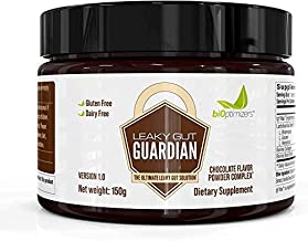 Leaky Gut Guardian Repair Powder - Chocolate Flavor - Has Lactobacillus Strains, Bone Broth & Collagen - Source of L-Glutamine - Gas & Bloating Relief - Improves Gut Health - 30 Servings - 150g