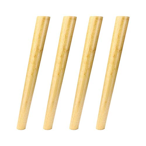 ZXL Inclined taps toelopende kast voeten massief hout meubels ondersteuning voeten thuis massief hout accessoires, vier geladen met roestvrij stalen plaat vast stuk, geschikt voor tafel poten salontafel steun