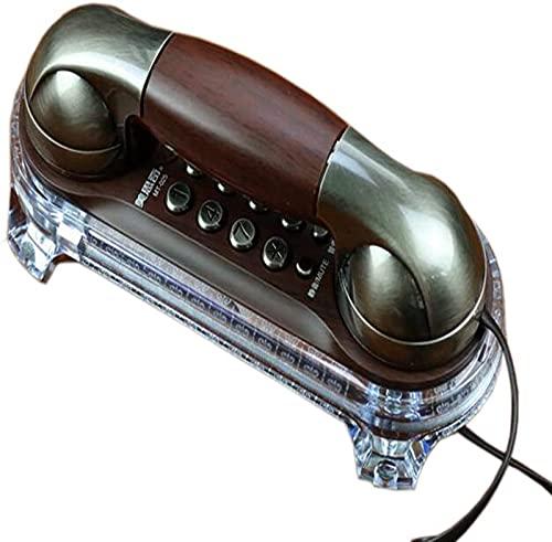 CJDM Teléfono Retro para el hogar, botón montado en la Pared, dial, Mesa de Pared, teléfono Fijo Vintage de Doble Uso, decoración de Escritorio para el hogar