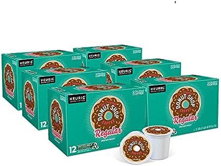 The Original Donut Shop Keurig Cápsulas K-Cup de un solo servicio, café tostado medio, 72 unidades