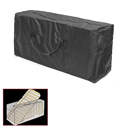MCUILEE Draussen Möbel Kissenbeutel, Aufbewahrungstasche Multifunktions-Aufbewahrungstasche Wasserdicht und leicht schwarz Tasche