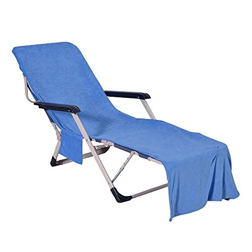 OUZHOU Funda plegable para silla de playa de gran tamaño para silla de playa con bolsillo y correa portátil