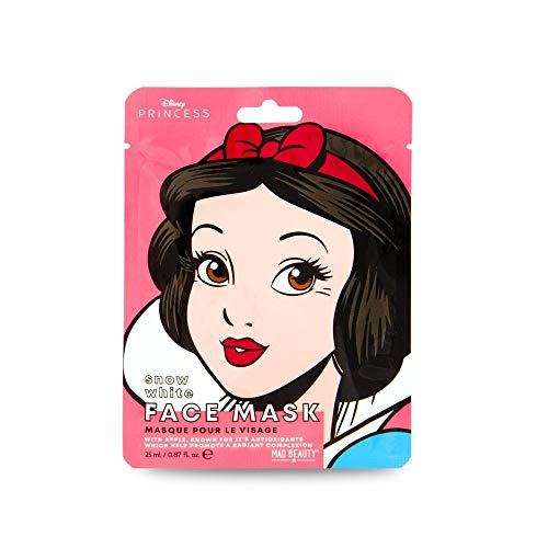 MAD Beauty Mascarilla Facial Hidratante Blancanieves, Disney Pop Princess Face Mask Snow White Translúcido, 25 Mililitros