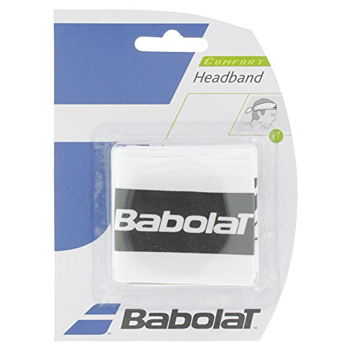 Babolat Kopfband–Set–1-Tennis, Squash, Badminton, Weiß