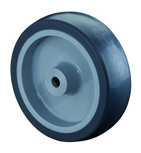 BS Rollen A80.100 Gummirad blaugrau, Radkörper Kunststoff, Ø 100 mm, Gleitlager