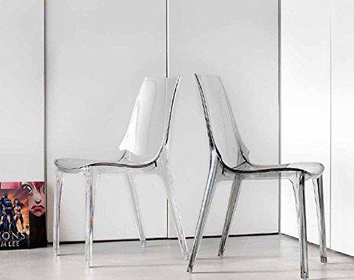 Ideapiu Idea SEDIE in POLICARBONATO, SEDIE in Polipropilene Sedia Vanity Chair in POLICARBONATO, Confezione da Quattro Pezzi