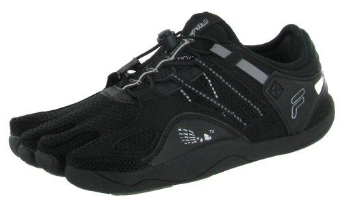 Fila Men's Skele-Toes Bay Runner 3,Black/Metallic Silver/Pewter,US 12 M