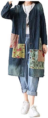 Abrigo de guisante de manga larga para mujer, estilo retro