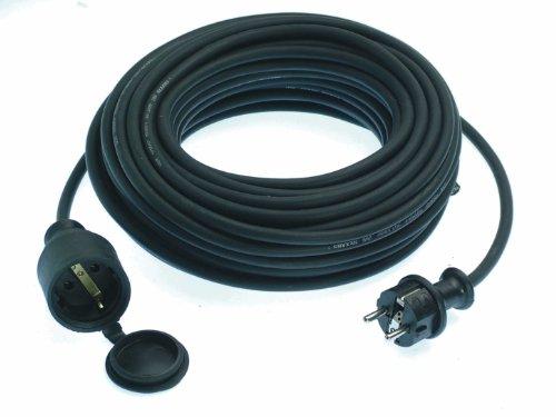 as - Schwabe 60365 rubberen verlengkabel, 50 m, IP44 voor buiten, zwart