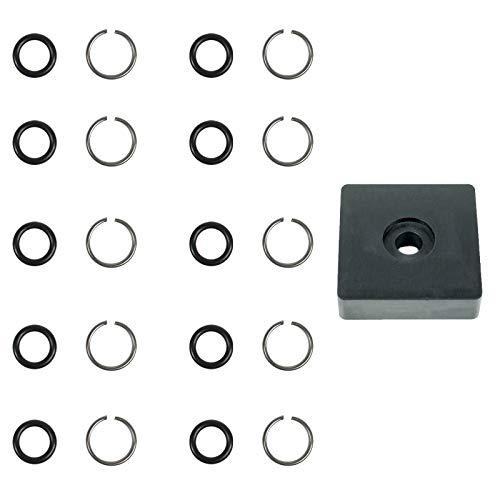 Schlagschrauber 1/2 Zoll O-Ring Reparaturkit - 10 Sets mit Montage Werkzeug