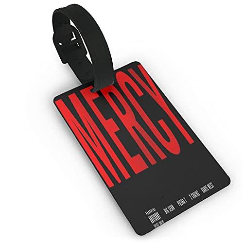 Etiquetas de equipaje con logotipo de Mercy para maleta unisex, etiquetas de equipaje con funda de privacidad completa para cruceros, barcos, accesorios de viaje