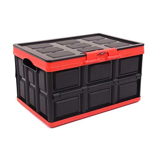 KINGCAV 30L Plastic Durable Car Trunk Organizers Storage Organizers Box for Camp Secure Padlock Cargo Storage Box Collapsible Storage Box with Waterproof Bag