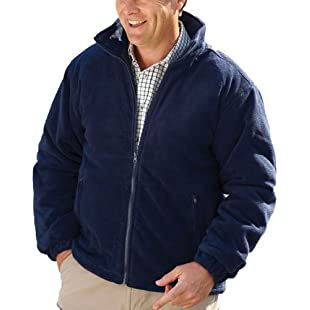 Mens Champion Glen Country Clothing Padded Quilt Lined Fleece Jacket Navy L:Peliculas-gratis