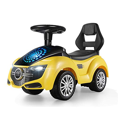 SUN JUNWEI Kids Twist Car,Roller Kinderspielzeug Kinder Wackeln Kreisel Twist Auto, Kleinkind Kleinkind Wackeln Gyro Twist Roller Schieben,Gelb