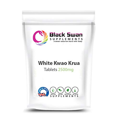 Black Swan White KWAO KRUA (Pueraria mirifica) 2500 mg Tablets – Anti-oxidant and Anti-inflammatory Properties – Support Menopause & PMS – Muscle Health and metabolic Function (60 Tabs)