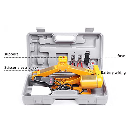 QJF Manivela de mano de cambio de neumáticos accesorios de elevación de reparación de coches Jack accesorios herramienta, 12 V llave eléctrica pistola de viento herramienta de reparación de coches