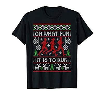 Christmas Gift Idea for Runners Oh What Fun It Is To Run T-Shirt