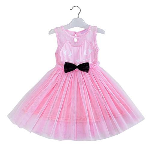 Bubbry zomer kattenpatroon kinderen meisjes formele bruiloft bruidsmeisje party prinses jurk