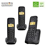 Gigaset A120 TRIO - Basic Cordless Home Phone with 3