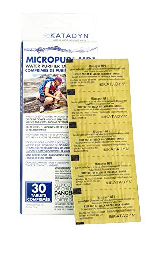 Katadyn Micropur MP1 Water Purification Tablets (30 Count)