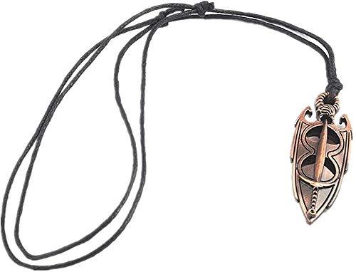 JIUJIN Halskette The Elder Scrolls 5 Skyrim Amulett Von Akatosh Anhänger Seilkette Halskette & Schlüsselbund-Halskette