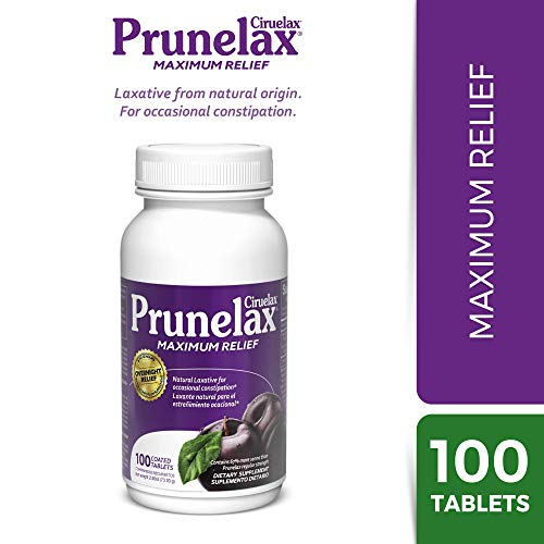 Prunelax Ciruelax Natural Laxative Maximum Relief Tablets, 100Count
