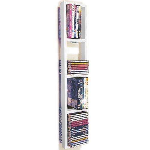 WATSONS ISIS - étagère Murale de Rangement CD DVD - Blanc