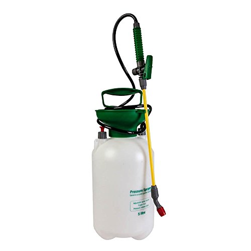 Lewis's Silver & Stone Garden Sprayer For Plants And Weeds | Manual Pressure Sprayer – Weed Killer, Pump For Watering Plant | Spray Nozzle [5 Or 16 Litre Capacity] (5l)