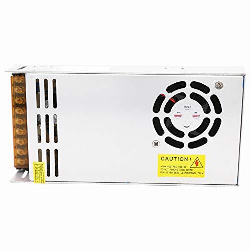 Daxpoo Tira De Led Fuente De Alimentación 12v Voltio 600W Raya Transformador Iluminación Controlador Dc Adaptador (PS600-DP12)
