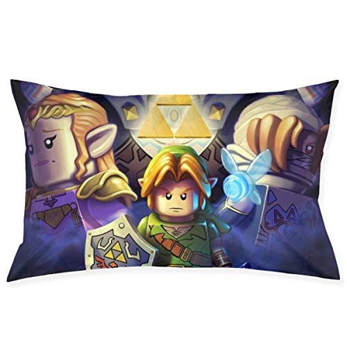 chenshan Legend of Zelda Ocarinaof Time Throw Pillow Covers Square Plush Pillowcases Decorative Printing Soft for Child Bed Home Modern Cushion pillowslip