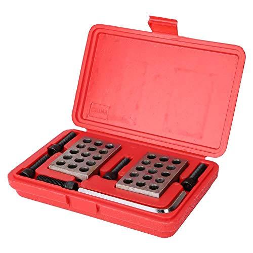 1-2-3 Blocks Machinist, 1-2-3 Blocks Präzisionslehrenblöcke Matched Milling Machinist 23 Löcher mit Schraubenschlüssel Gehäuselänge Machinist 23 Löcher