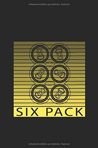 Bier Six Pack Trinker Säufer Alkohol Betrunken: Notizbuch (15,24cm x 22,86cm) 120 Seiten Kariert (4x4)