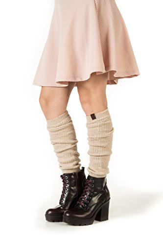 Marino Long Leg Warmers For Women - Winter Knee High Knit Leg Warmer Socks, Enclosed in an Elegant Gift Box
