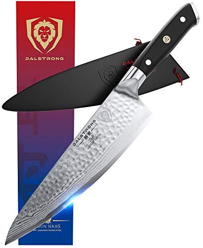 DALSTRONG Premium Kochmesser - 20 cm - Damastmesser nach Kanadischem Premium Design - Shogun Series X Gyuto - aus japanischem AUS-10V Super Stahl