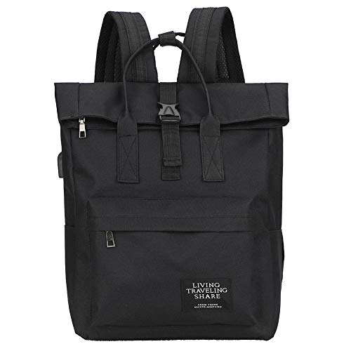 xueren Backpack Women Men Waterproof Nylon School bags Large Capacity Laptop USB Charging Top-handle Bags