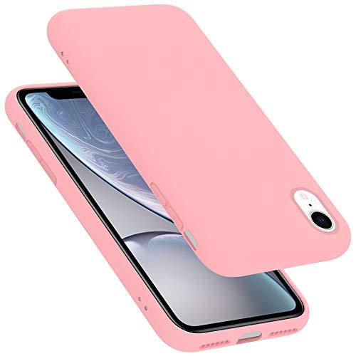 Cadorabo Custodia per Apple iPhone XR in LIQUID ROSA - Morbida Cover Protettiva Sottile di Silicone TPU con Bordo Protezione - Ultra Slim Case Antiurto Gel Back Bumper Guscio